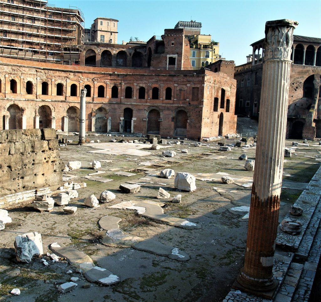 Ruinen aus dem Römischen Reich in Rom.