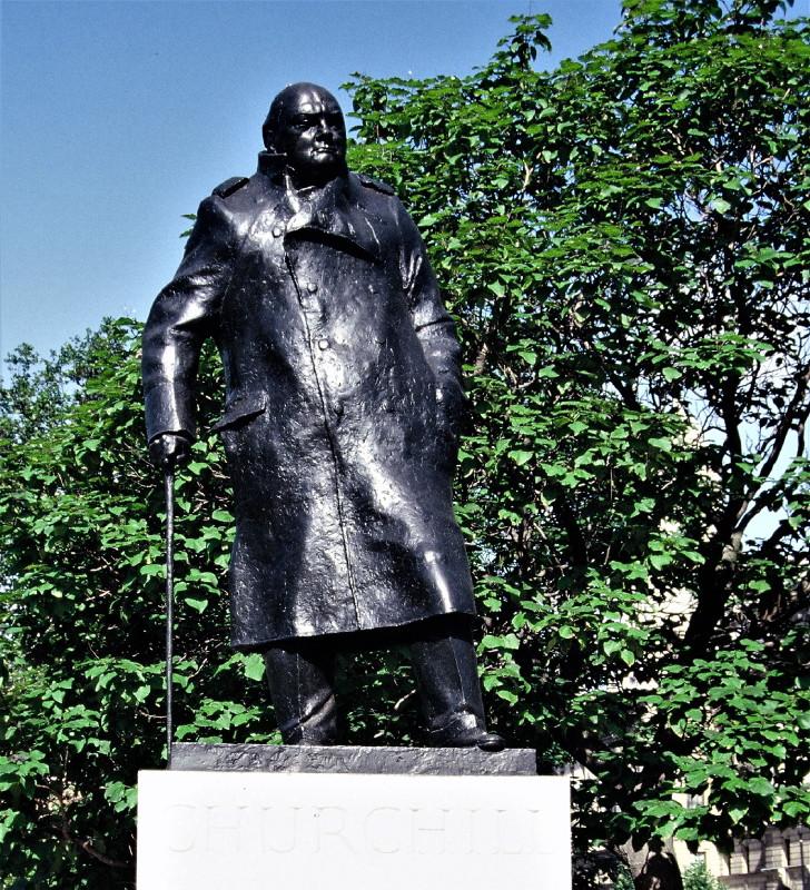 Winston S. Churchill als Skulptur.