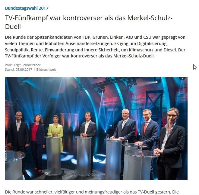 Die Vertreter von CSU, FDP, Bündnis90/Die Grünen, Die Linke und Afd.