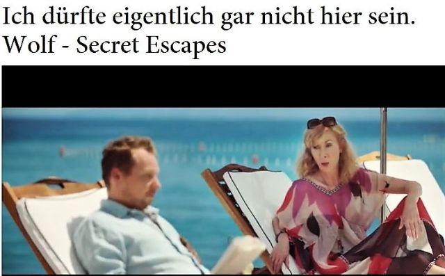 """Gruselgeschichte über Wolfsattacke in TV-Spot von """"Secret Escapes""""."""