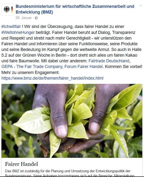 Gerd Müller, CSU-Entwicklungshilfeminister, spricht sich für fairen Handel aus.