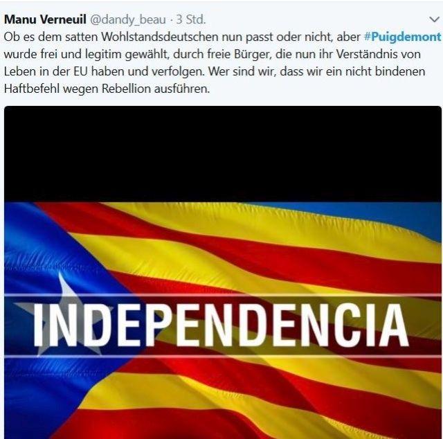 """Indepencia"" ist dieser Tweet betitel."