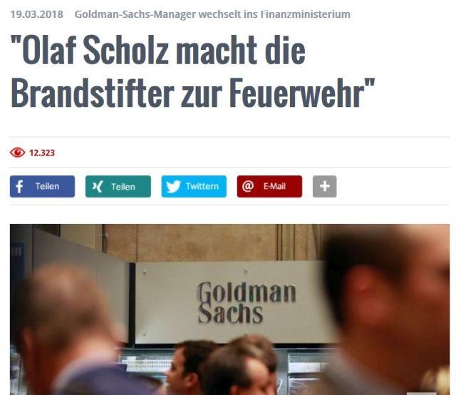 """Das Manager-Magazin titel """"Olaf Scholz macht die Branstifter zur Feuerwehr"""" und bezieht sich auf die umstrittene Berufung eines Investmentbankers zum Staatssekretär."""