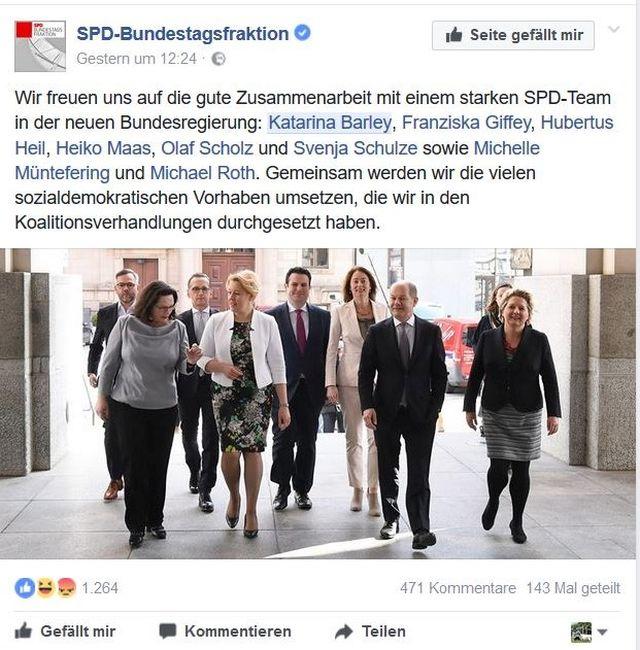 Die Ministerinnen und Minister der SPD.