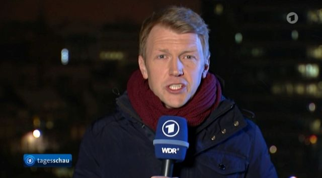 """""""Tagesschau""""-Korrespondent berichtet über Junckers Drohung von Strafzöllen."""