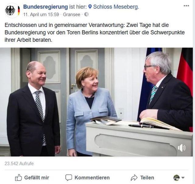 Juncker zu Gast in Meseberg.