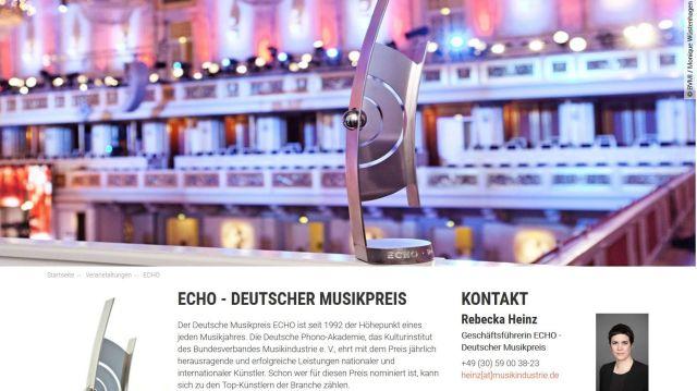 """Der Musikpreis """"Echo"""" wird entwertet wird durch die Vergabe an die Rapper Kollegah &Farid Bang entwertet."""