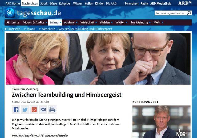 """""""Zwischen Teambildung und Himbeergeist"""": Bundesregierung trifft sich in Meseberg."""