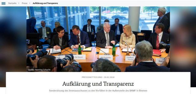 Horst Seehofer im Innenausschuss des Bundestags.