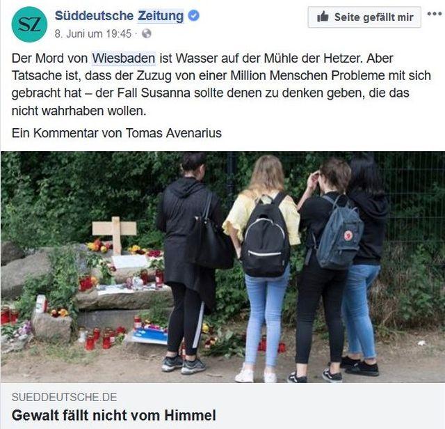 Junge Menschen gedenken der ermordeten Susanna.