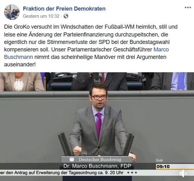 Marco Buschmann spricht für die FDP im Deutschen Bundestag.