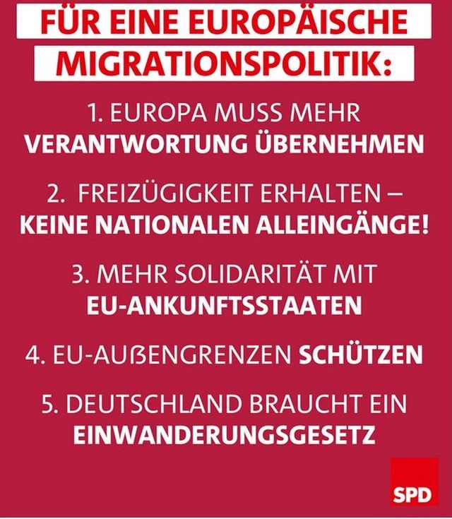 SPD veröffentlicht neues 5-Punkte-Papier