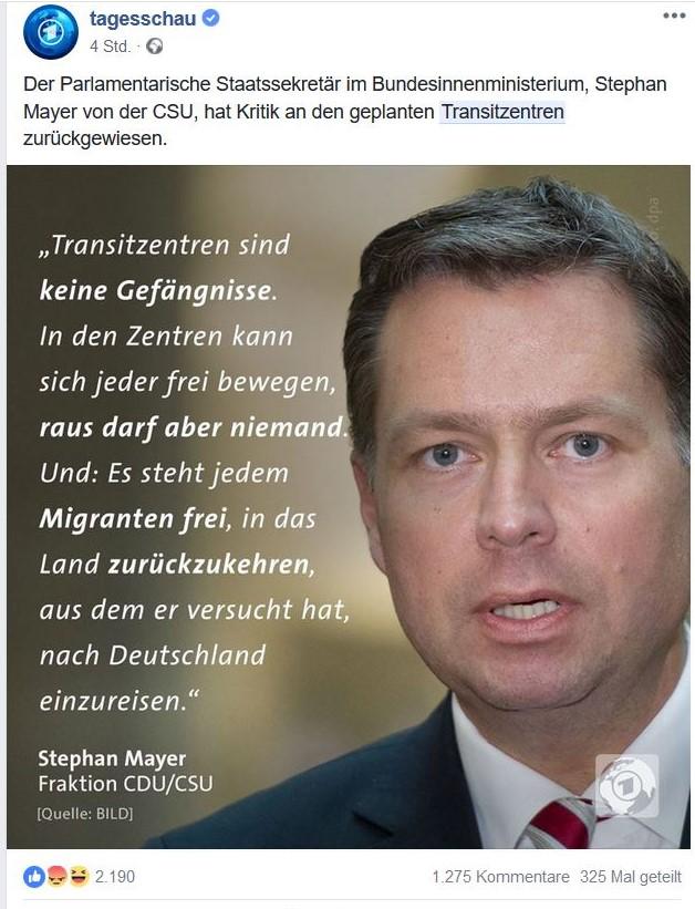 Stephan Mayer im Bild, er fordert geschlossene Transitzentren.
