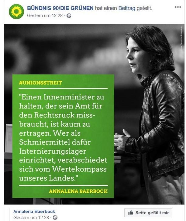 Annalena Baerbock lehnt Transitzentren als Internierungslager ab.