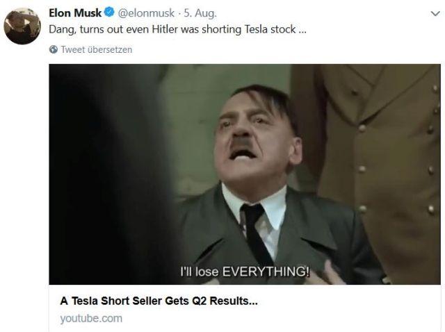 Adolf Hitler wird bei Elon Musk zum Fonds-Manager.