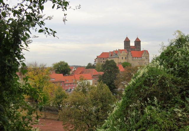 Blick auf Quedlinburgs historischen Kern.
