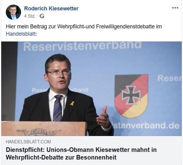 Roderich Kiesewetter im Bild bei einer Tagung des Reservistenverbands der Bundeswehr fordert eine angemessene Diskussion.