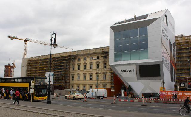 Blick auf die Baustelle für das Humboldt-Forum.