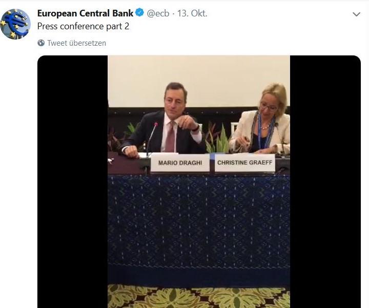 Mario Draghi bei einer Pressekonferenz der EZB.