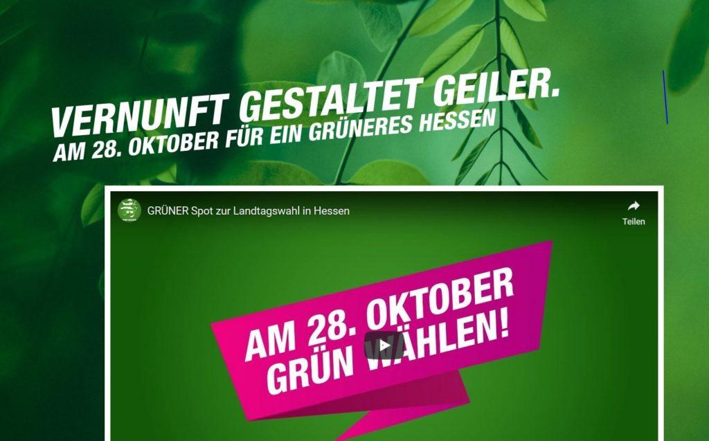'Vernunft gestaltet geiler', so der Leitspruch der Grünen.