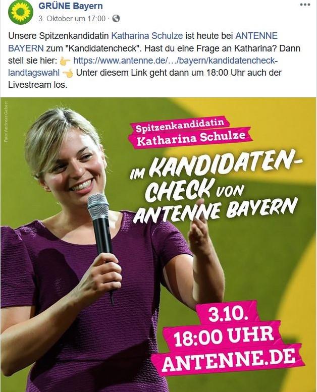 Katharina Schule in einem Facebook-Post.