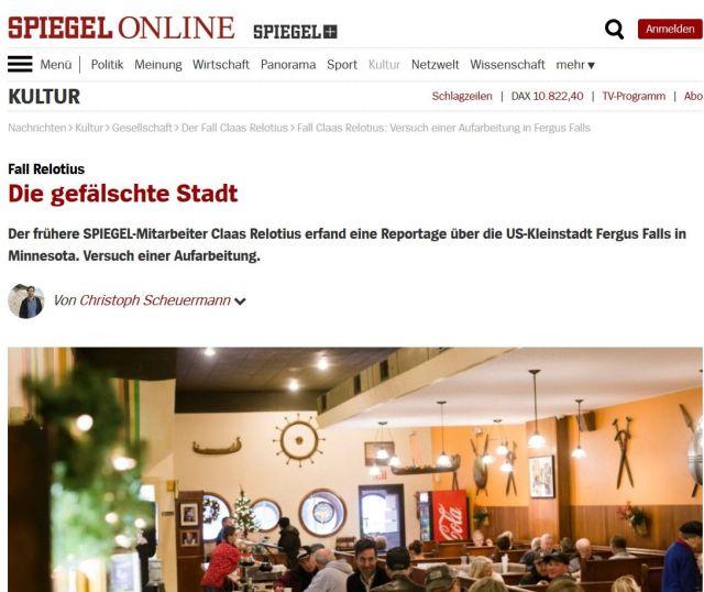 'Fall Relotius. Die gefälschte Stadt', so der Titel eines 'Spiegel'-Beitrags zum Skandal um die erfundenen Geschichten.