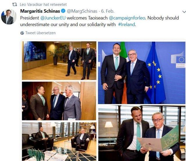 Mehrere Fotos in einem Tweet.