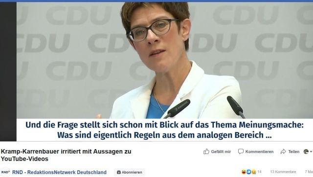Annegret Kramp-Karrenbauer im weißen Blazer bei einer Rede.