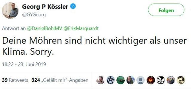 """Wenn Möhren gegen das Klima aufgewogen werden. - in: """"Garzweiler: 'Mama hat vergessen, mir mein Vesper einzupacken'. Wenn die Tagebau-Besetzer auf ein Fläschchen von der Polizei warten"""" – www.deutschland-geliebte-bananenrepublik.de"""