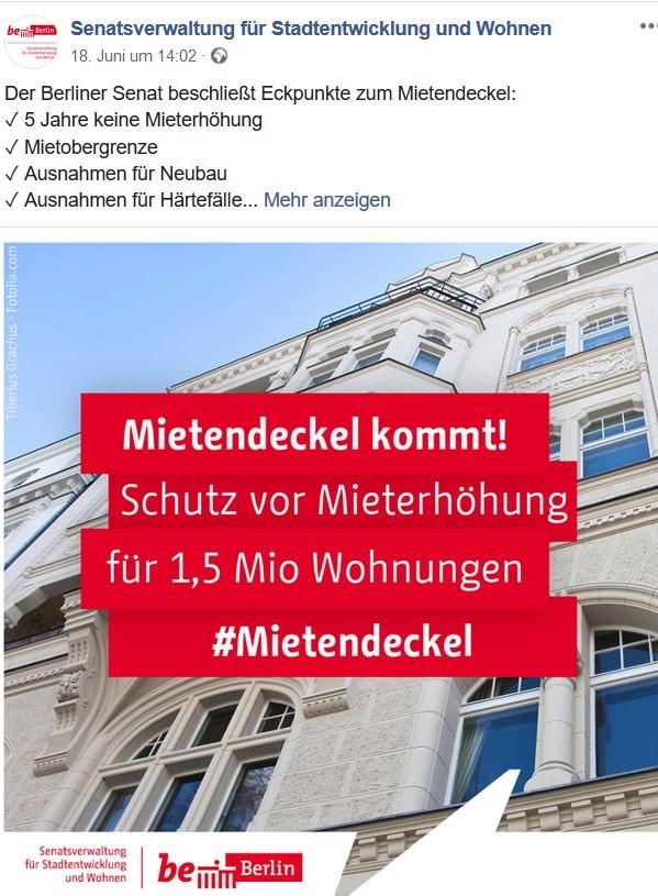 """Berliner Senat setzt auf einen Mietendeckel - in: """"Berlin: Mietendeckel fällt den Investoren auf den Kopf. Es ist an der Zeit für eine innovative Regionalpolitik"""" – www.deutschland-geliebte-bananenrepublik.de"""