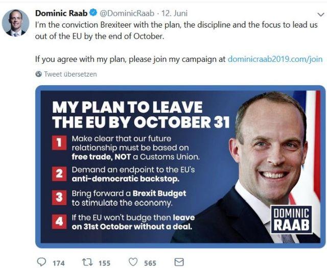 """Der Exminister Dominic Raab liebäugelte damit, das Parlament in Urlaub zu schicken. - in: """"Von der Chaos-Premierministerin zum Brexit-Hardliner. Dem Vereinigten Königreich stehen unruhige Zeiten bevor"""" – www.deutschland-geliebte-bananenrepublik.de"""