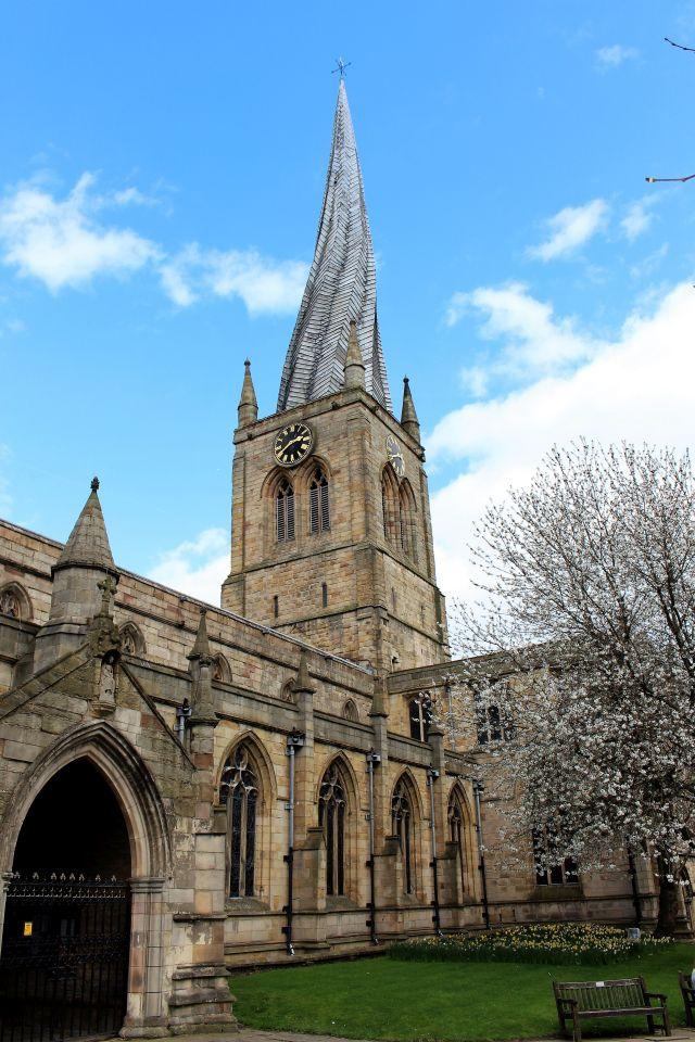 Der gebogene Kirchturm - Crooked Spire - in Chesterfield.