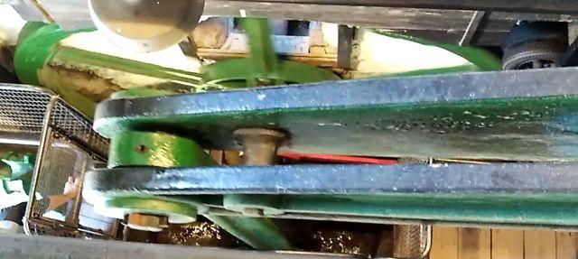 Eine 180 Jahre alte Förderanlage. Die Kraft wird von der Dampfmaschine erzeugt.