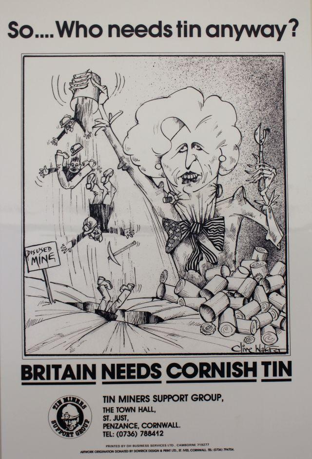 Ein Plakat mit Margaret Thatcher