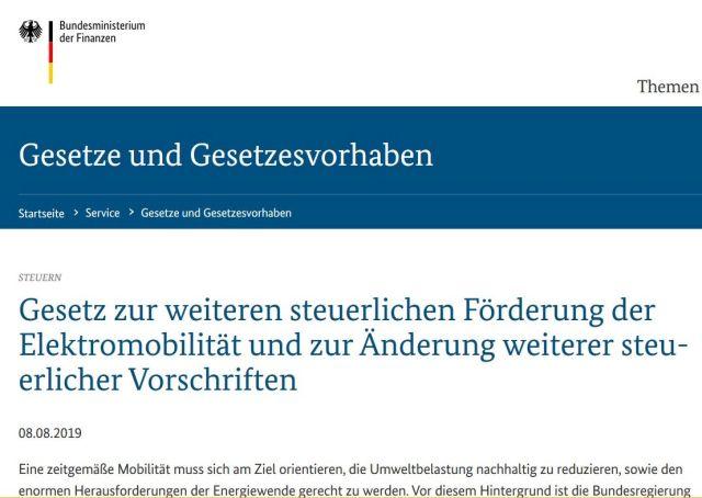 Hinweis auf der Internetseite des Bundesfinanzministeriums auf das Gesetzes-Paket - ohne Nennung der Mehrwertsteuer auf Bildungsprogramme.