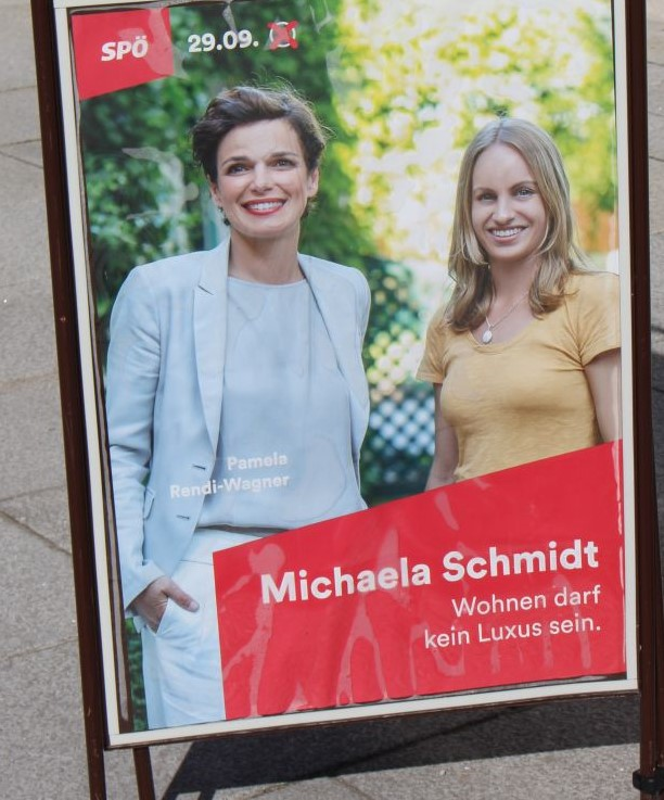 Pamela Rendi-Wagner mit der Salzburger Kandidatin Michaela Schmit.