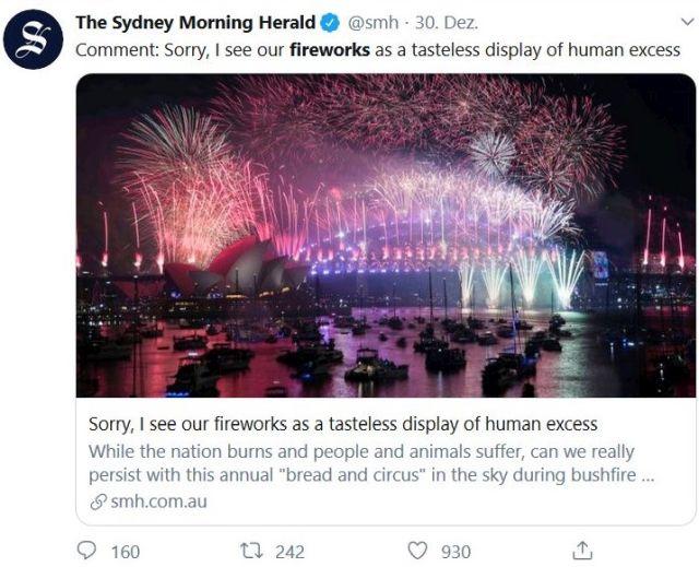 Buntes Feuerwerk in Sydney.