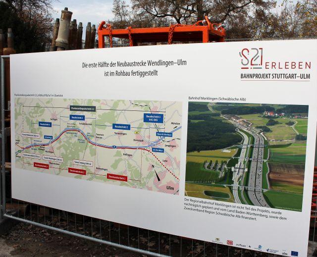 Grafische Darstellung der Verbindung von Stuttgart nach Ulm.