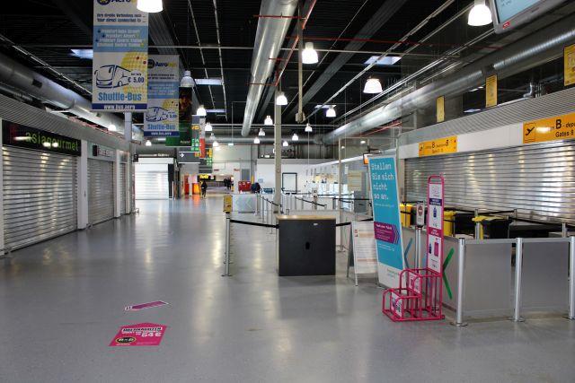 Terminal 2 in Hahn, derzeit nicht in Betrieb. Das Foto zeigt den Innenbereich.