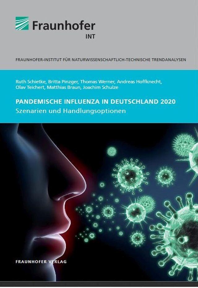 Titelblatt einer Pandemie-Untersuchung des Fraunhofer Instituts.