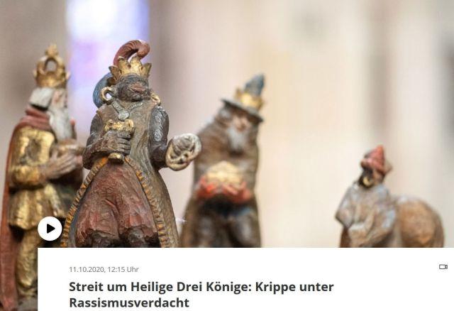 Geschnitzte Figuren. Die Heiligen Drei Könige.