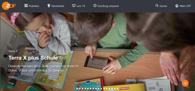 Seite der ZDF-Mediathek zum Thema Bildung.