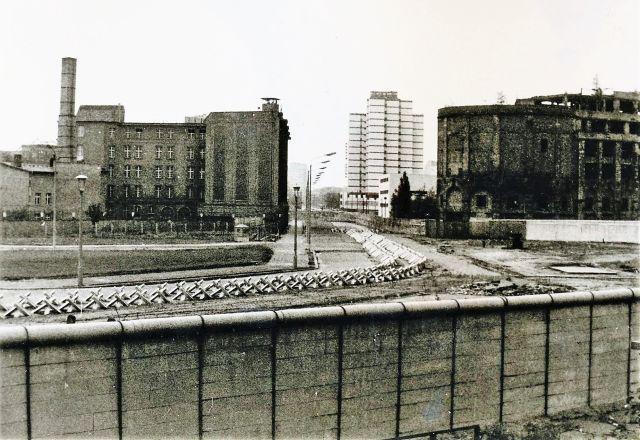 Grenzanlagen in Berlin in den 1970er Jahren.